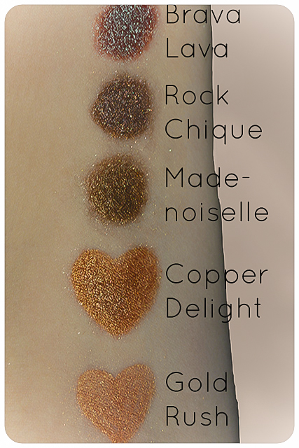 hiro mineral swatches