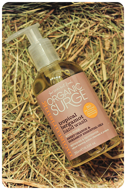 organic surge tropical bergamot handwash