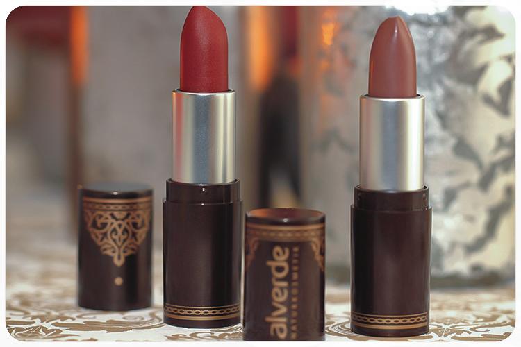 alverde limited edition oriental bazaar lippenstifte safran rouge muskat brown