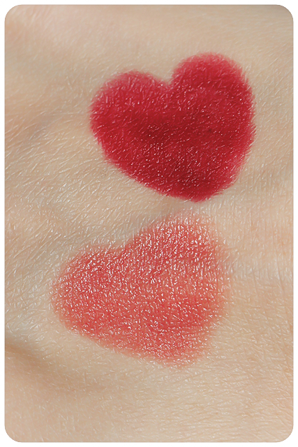 burts bees lip crayons swatches