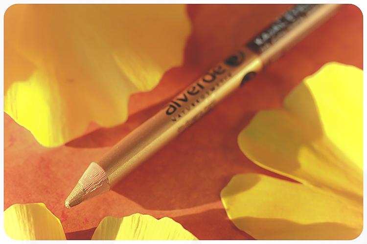 alverde duo kajal eyeliner golden brown