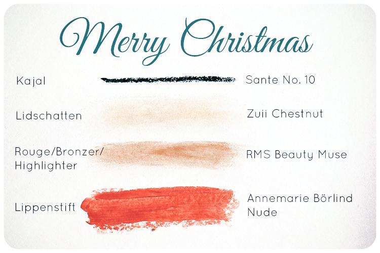 naturkosmetik weihnachtslook merry christmas