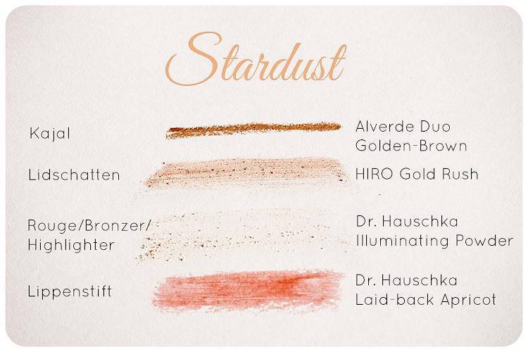 naturkosmetik festliches Makeup stardust