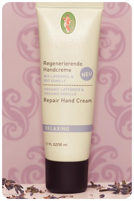 primavera regenerierende handcreme lavendel vanille