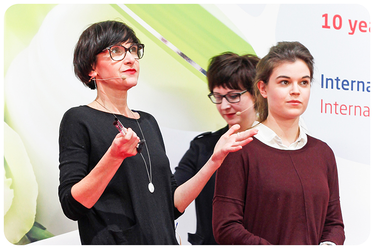 claudia schaaf kathrin bornmüller vivaness on stage