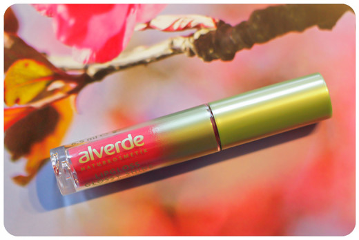 alverde lipgloss glossy shine raspberry in love