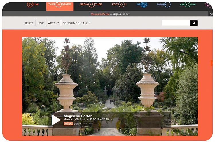 arte dokureihe magische gärten