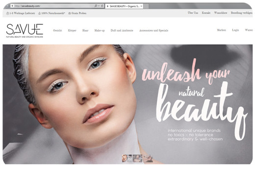 savue beauty homepage