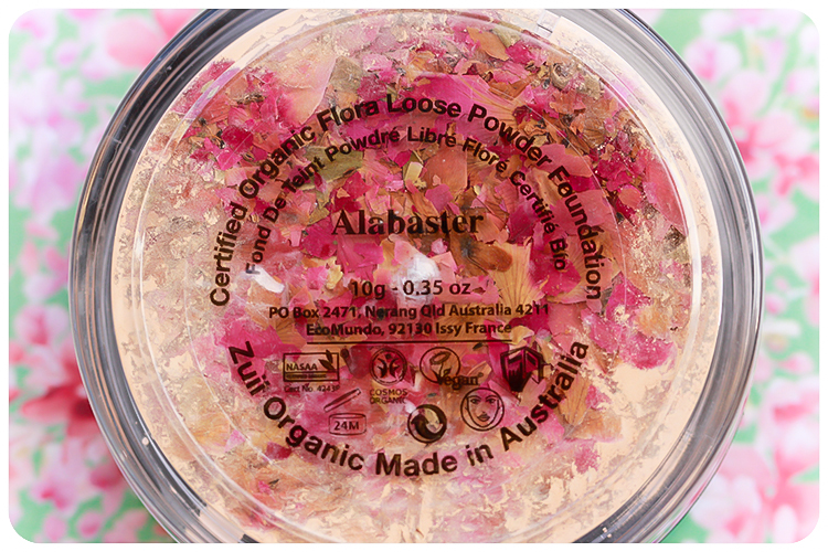 zuii flora loose powder foundation alabaster