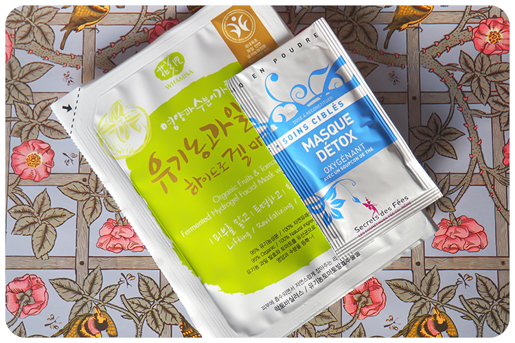 k-beauty whamisa sheet mask secret des fees peel off mask