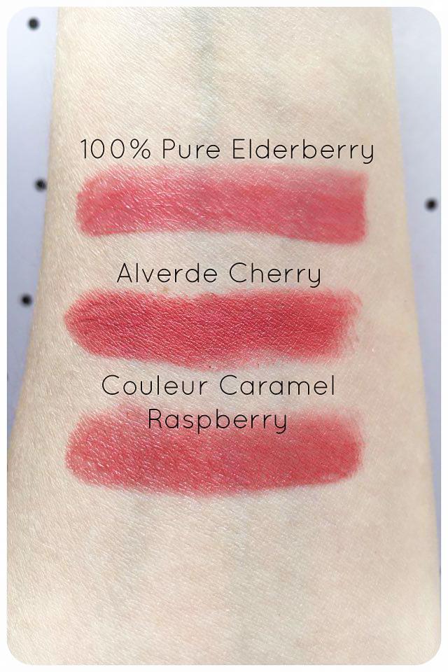 couleur caramel 100% pure alverde swatch