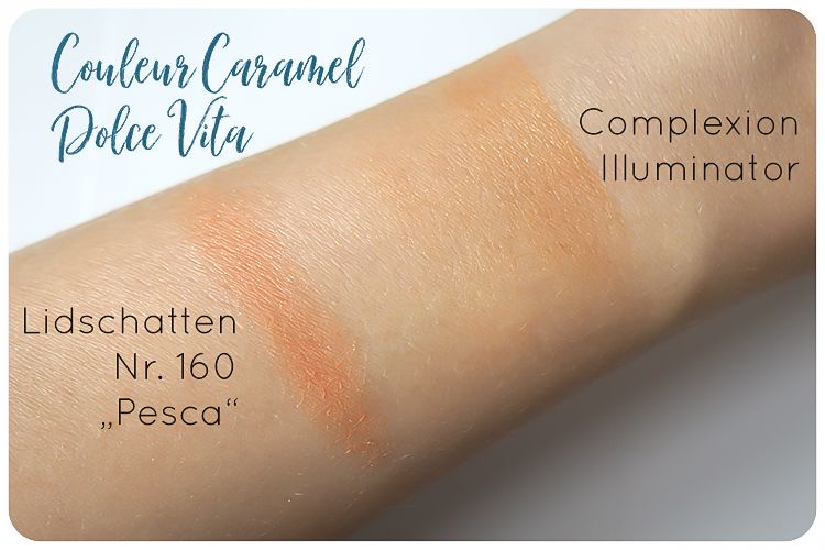 couleur caramel dolce vita swatches