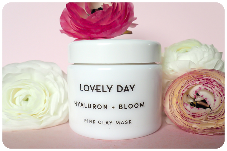 lovely day hyaluron and bloom pink clay mask