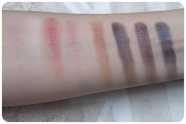 every day minerals makeup diary london swatches